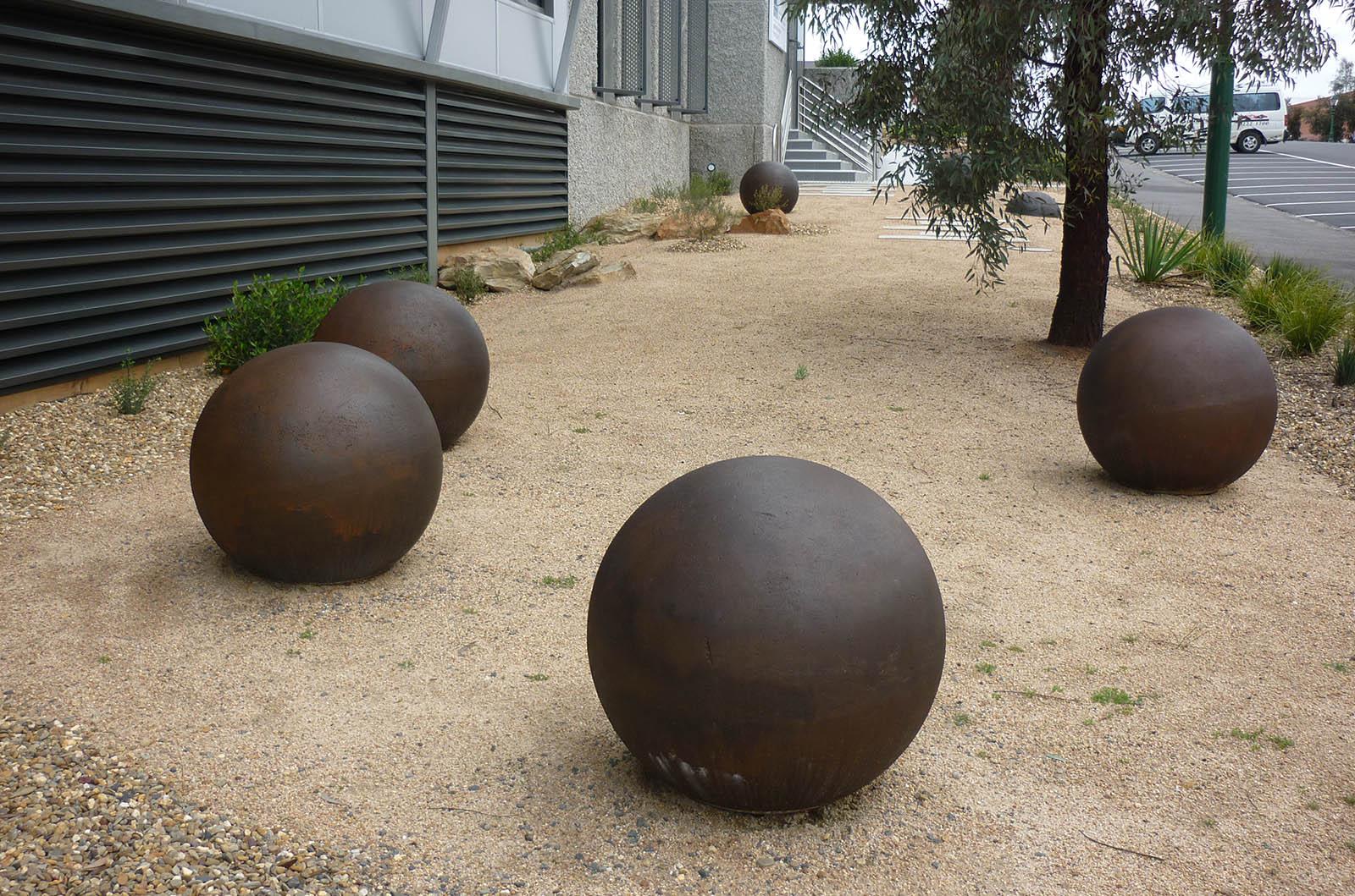 Customs_0005_Concrete spheres for Shire of Bendigo